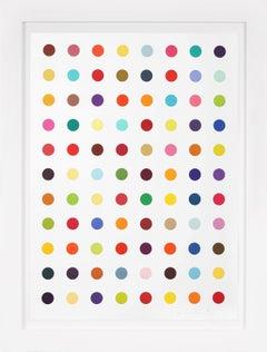 Damien Hirst, Vertical 'Spots' I Woodcut, 2018