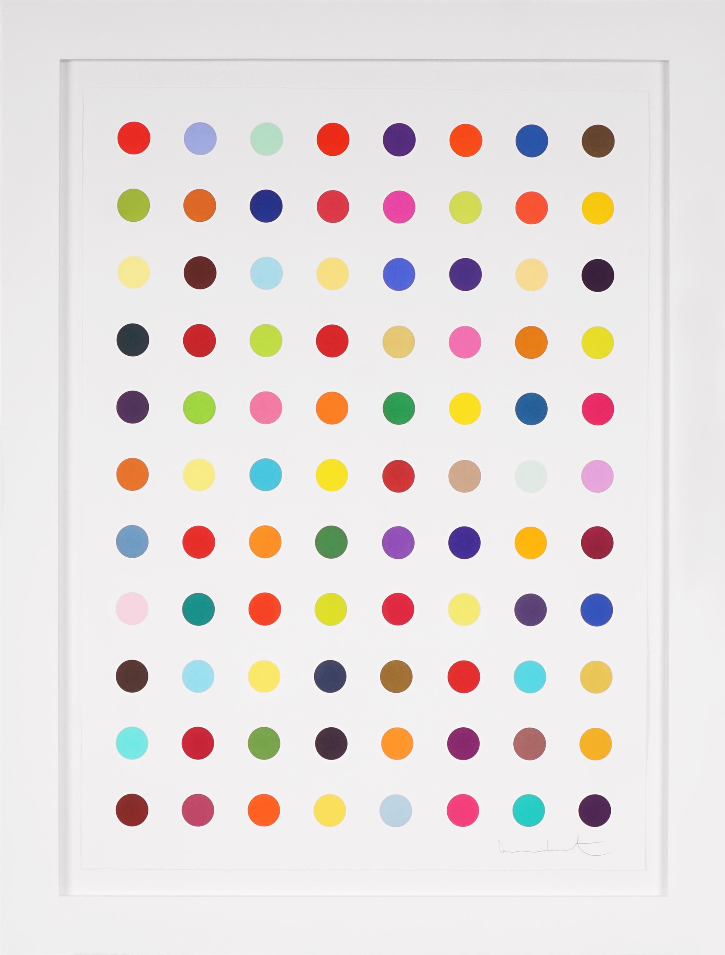 Damien Hirst, Vertical 'Spots' III, Woodcut, 2018