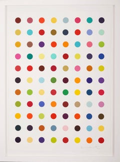 Damien Hirst, Vertical Spots, Woodcut, 2018