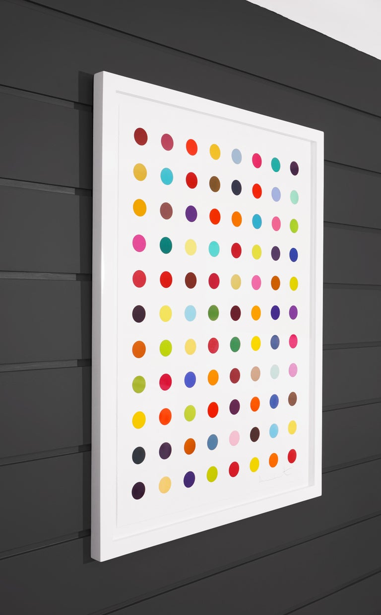Damien Hirst, Vertical 'Spots' Woodcut, 2018 - Beige Abstract Print by Damien Hirst
