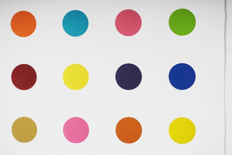 Damien Hirst, Vertical 'Spots' Woodcut, 2018 For Sale 2