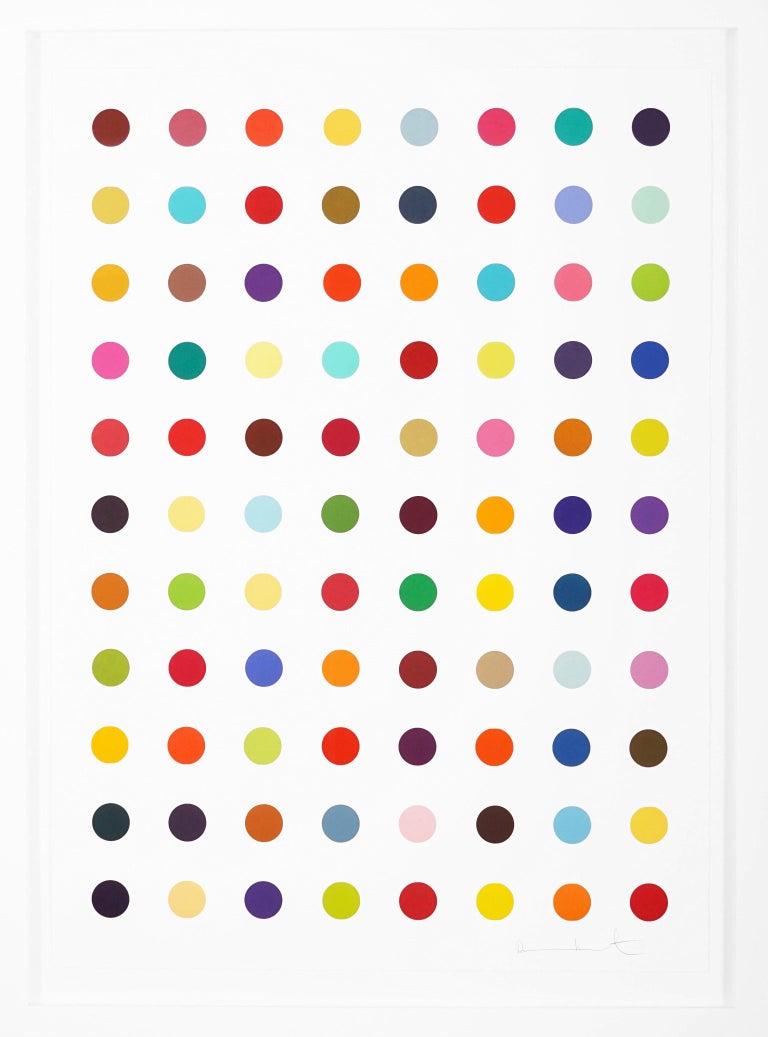 Damien Hirst, Vertical 'Spots' Woodcut, 2018 - Print by Damien Hirst