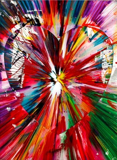 Spin Painting - Heart