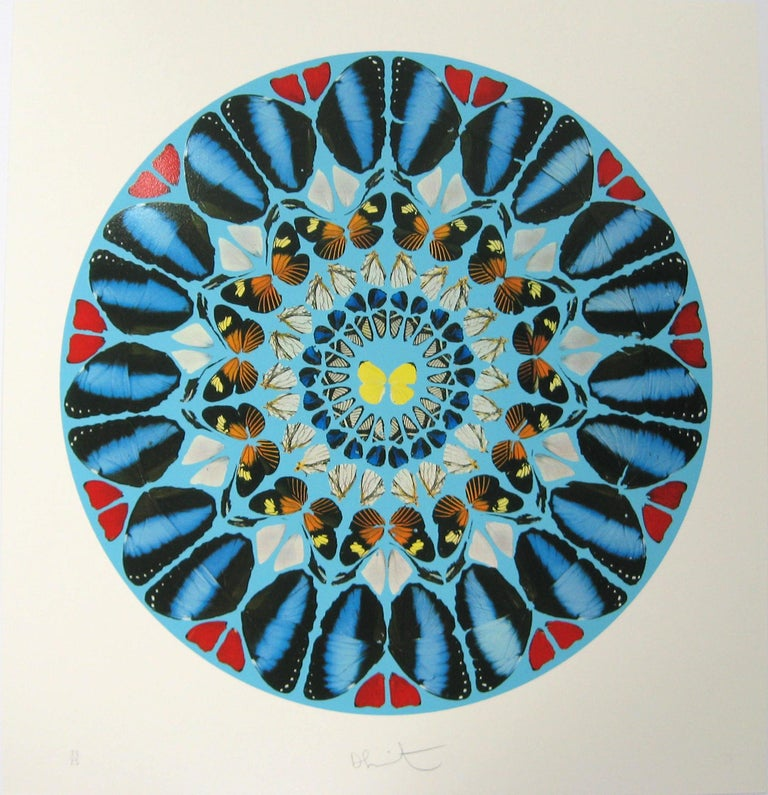 Damien Hirst Ad te, Domine, levavi, 2009 29 1/8 x 28 1/8 inches 31 3/4 x 31 x 2 inches frame from the series Psalm Prints Silkscreen print with glaze Signed and numbered Edition of 25 (+10 AP)  Hirst's Psalm prints draw directly from the butterfly