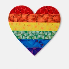Butterfly Heart (small) - Contemporary art, 21st Century, YBAs, Colorful, Giclée