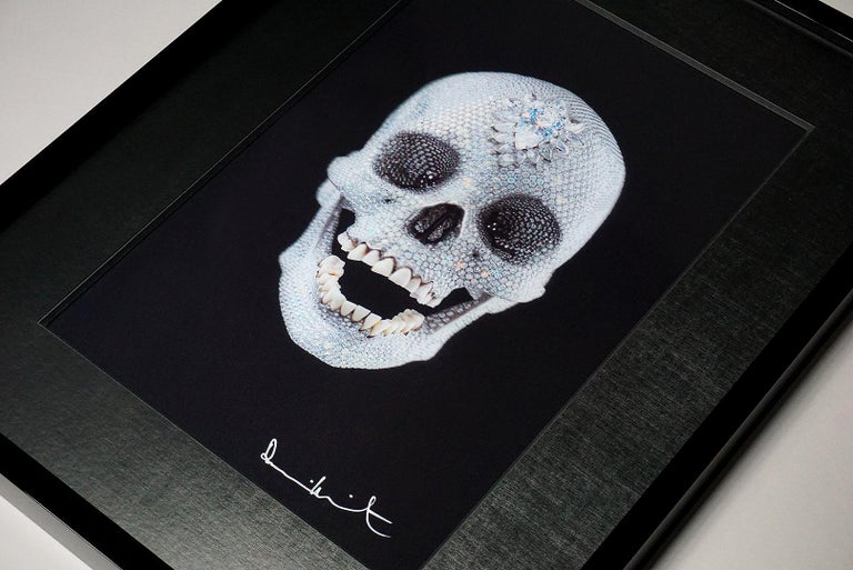A brilliant lenticular print of the famed 'For The Love Of God' diamond encrusted skull created by master contemporary artist, Damien Hirst. This lenticular print on PETG board has a glittering, lively effect as the skull 'moves' in respect to the