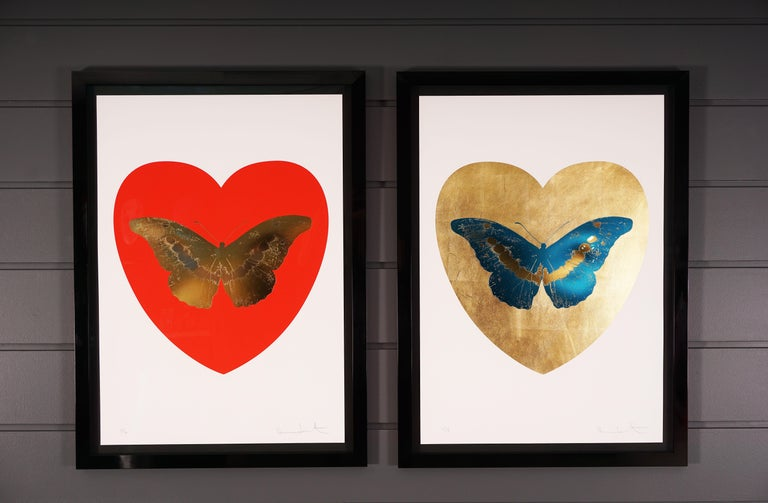 Damien Hirst, Butterfly, Blue/Gold (2015) For Sale 3