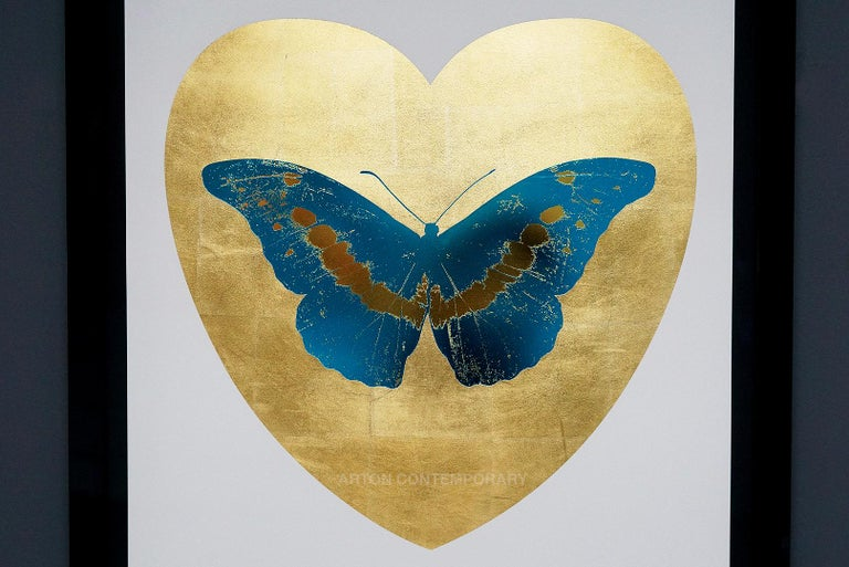 Damien Hirst, Butterfly, Blue/Gold (2015) For Sale 6