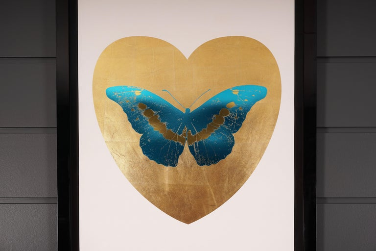 Damien Hirst, Butterfly, Blue/Gold (2015) - Beige Figurative Print by Damien Hirst