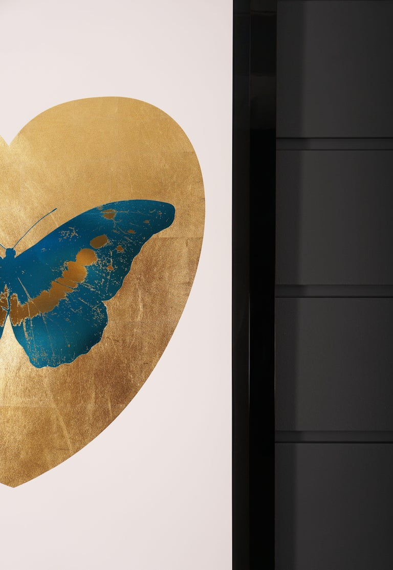 Damien Hirst, Butterfly, Blue/Gold (2015) For Sale 1
