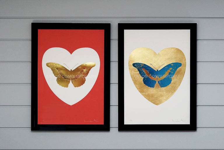 Damien Hirst, Butterfly, Blue/Gold (2015) For Sale 2