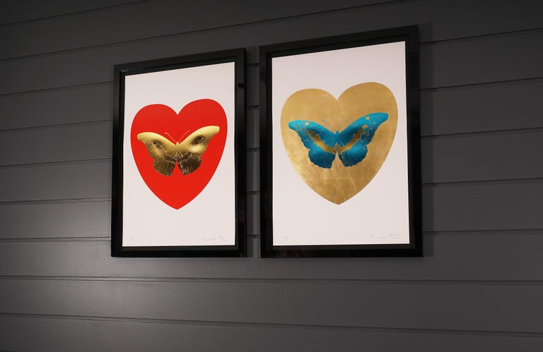 Damien Hirst, Butterfly, Blue/Gold (2015) For Sale 4