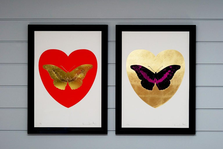 Damien Hirst, Butterfly, Poppy Red/Gold (2015) For Sale 1