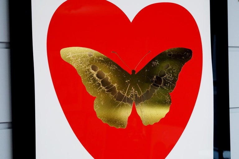Damien Hirst, Butterfly, Poppy Red/Gold (2015) For Sale 5