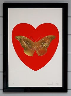 Damien Hirst, Butterfly, Poppy Red/Gold (2015)