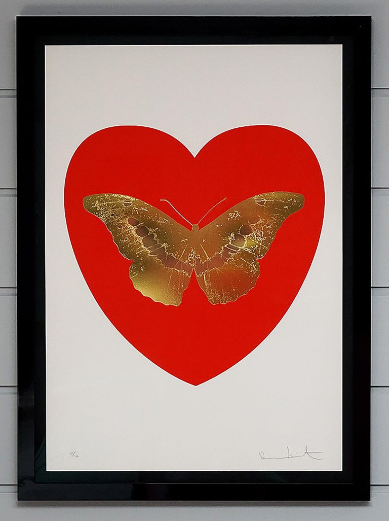 Damien Hirst, Butterfly, Red/Gold (2015) - Print by Damien Hirst