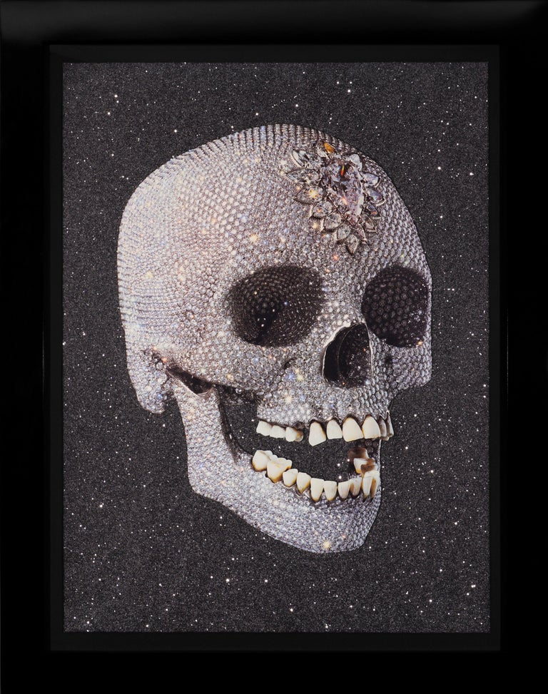 Damien Hirst, 'For the Love of God' Laugh with Diamond Dust, 2007 - Painting by Damien Hirst