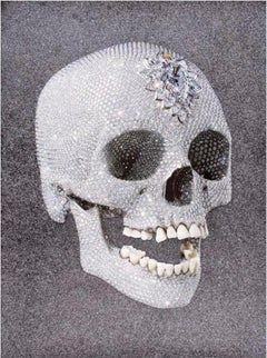 Damien Hirst, For the Love of God, Laugh, Silkscreen & Diamond Dust, 2007