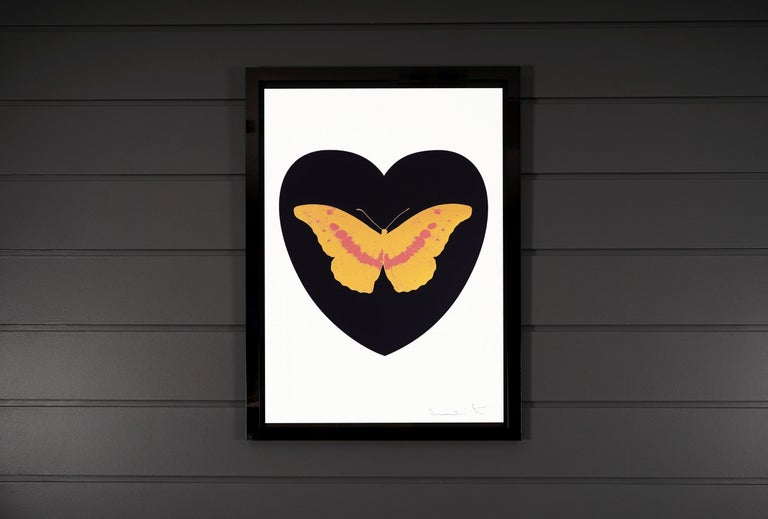 Damien Hirst, 'I Love You' Black/Coral/White, Butterfly - Contemporary Print by Damien Hirst
