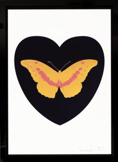Damien Hirst, 'I Love You' Black/Coral/White, Butterfly