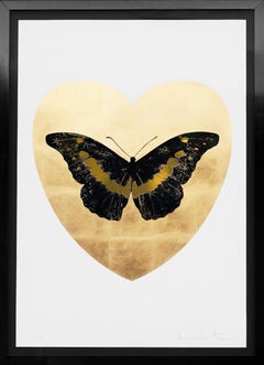 Damien Hirst, 'I Love You' Butterfly, Black/Gold, 2015