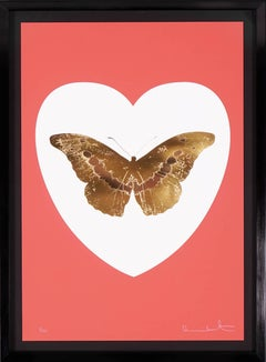 Damien Hirst, I Love You Butterfly, Coral/Gold Leaf