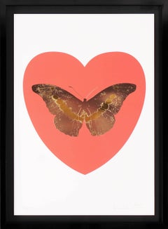 Damien Hirst, I Love You Butterfly, Coral/White/Gold Leaf