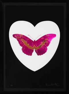 Damien Hirst, 'I Love You' Butterfly, Fuchsia/Black, 2015