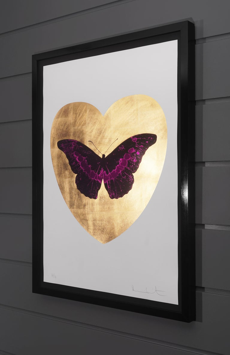 Damien Hirst, I Love You Butterfly, Fuchsia/Gold, 2015 - Contemporary Print by Damien Hirst