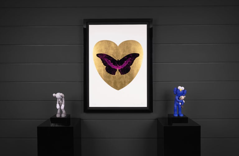 Damien Hirst, 'I Love You' Butterfly, Fuchsia/Gold, 2015 - Contemporary Print by Damien Hirst