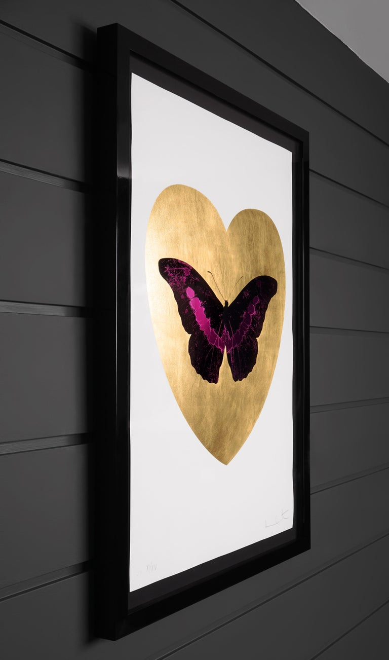 Damien Hirst, 'I Love You' Butterfly, Fuchsia/Gold, 2015 For Sale 1
