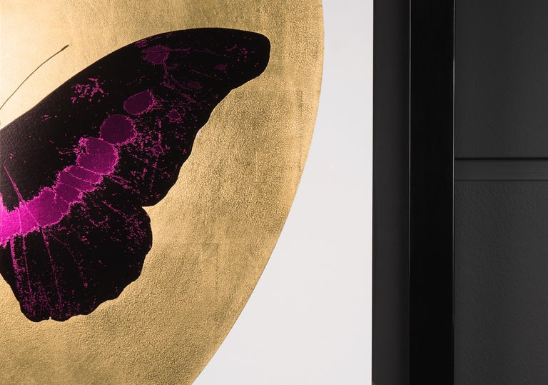 Damien Hirst, 'I Love You' Butterfly, Fuchsia/Gold, 2015 For Sale 3