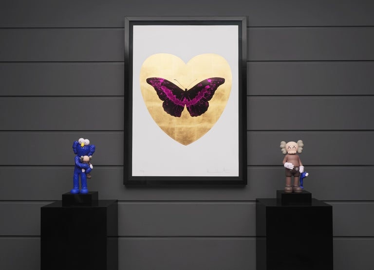 Damien Hirst, I Love You Butterfly, Fuchsia/Gold, 2015 4