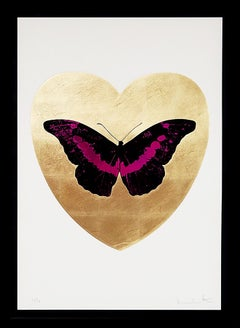 Damien Hirst, I Love You Butterfly, Fuchsia/Gold, 2015