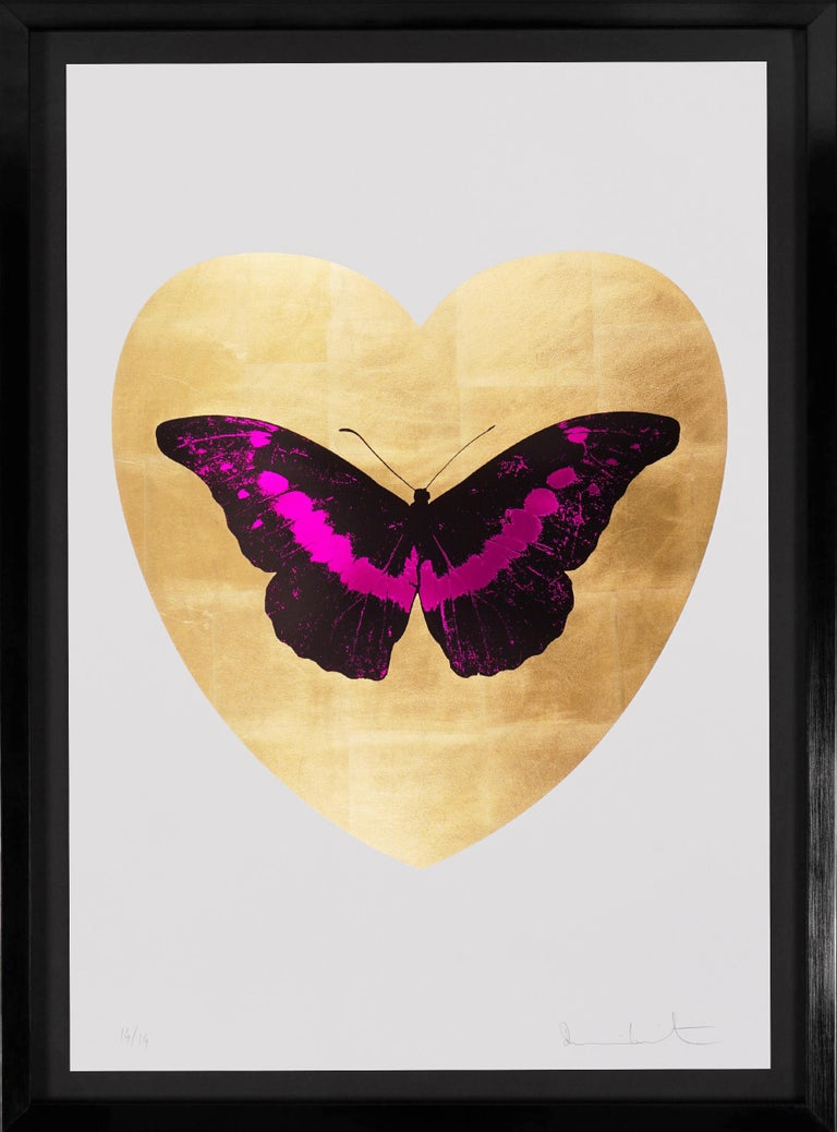 Damien Hirst, I Love You Butterfly, Fuchsia/Gold, 2015 - Print by Damien Hirst