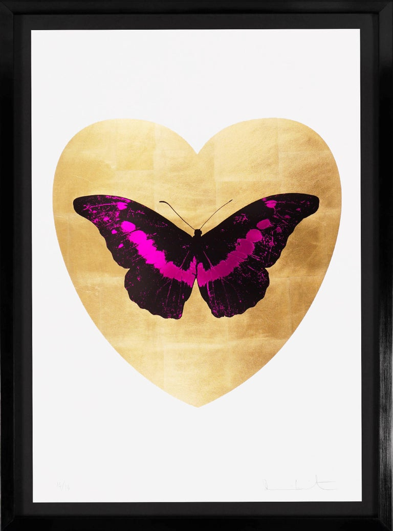 Damien Hirst, 'I Love You' Butterfly, Fuchsia/Gold, 2015 - Print by Damien Hirst