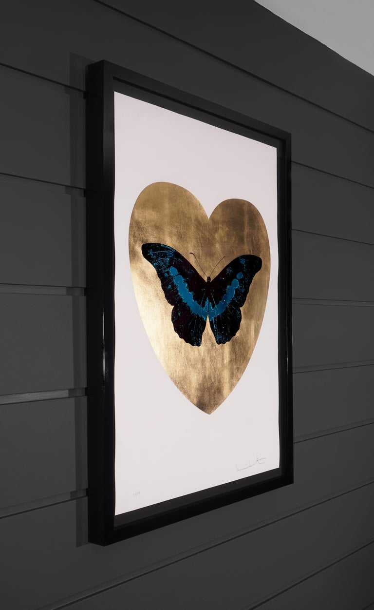 Damien Hirst, I Love You Butterfly, Turquoise/Gold  - Contemporary Print by Damien Hirst