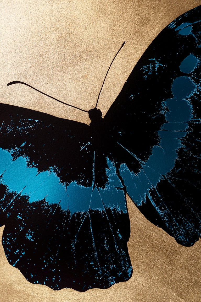 Damien Hirst, I Love You Butterfly, Turquoise/Gold  For Sale 1