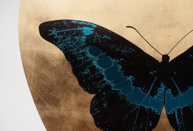 Damien Hirst, I Love You Butterfly, Turquoise/Gold  For Sale 2