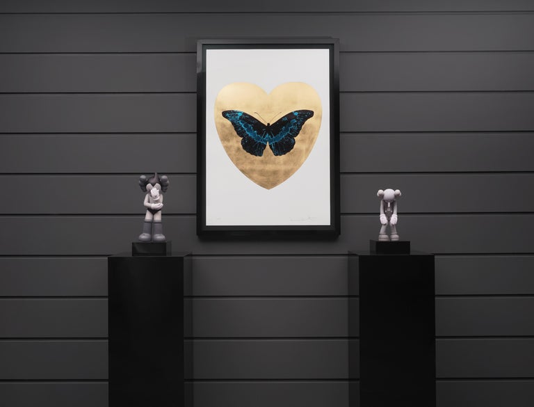 Damien Hirst, I Love You Butterfly, Turquoise/Gold  For Sale 5