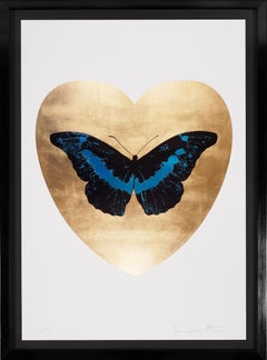 Damien Hirst, 'I Love You' Butterfly, Turquoise/Gold