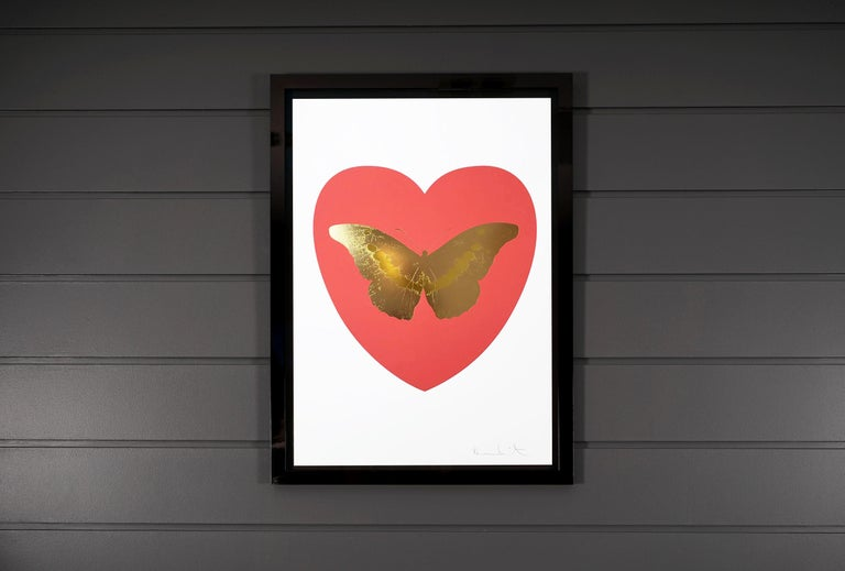 Damien Hirst, 'I Love You' Coral & White, Butterfly - Contemporary Print by Damien Hirst
