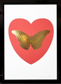 Damien Hirst, 'I Love You' Coral & White, Butterfly