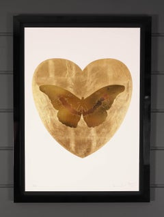 Damien Hirst, I Love You, Gold Butterfly