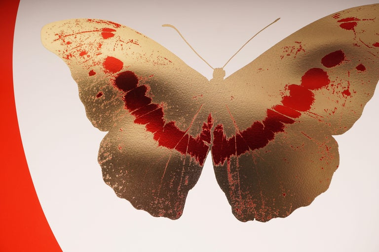Damien Hirst, I Love You, Red & Gold, Butterfly For Sale 2