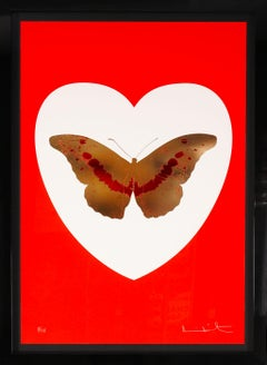 Damien Hirst, I Love You, Red & Gold, Butterfly