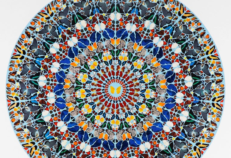 Damien Hirst, Mantra with Diamond Dust, 2011 - Gray Animal Print by Damien Hirst
