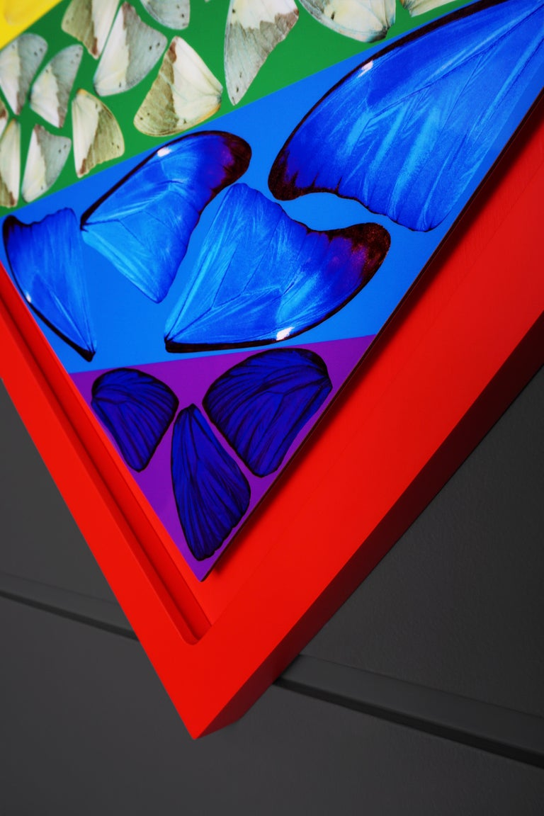Damien Hirst, Rainbow Butterfly Heart, 2020  For Sale 3