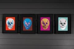 "Damien Hirst, Rare Set of Four ""Till Death Do Us Part Skulls, 2012"
