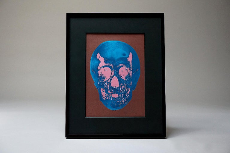 Damien Hirst, Skull, Brown/Blue, (2012)  - Black Figurative Print by Damien Hirst